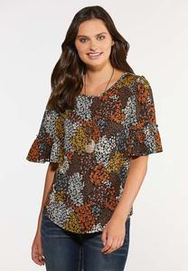 Plus Size Honey Floral Top