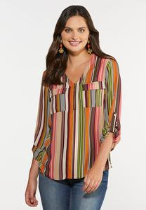 Spicy Stripe Top