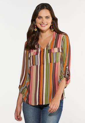 Plus Size Spicy Stripe Top
