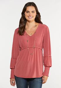 Ruffled Ruffle Poet Top