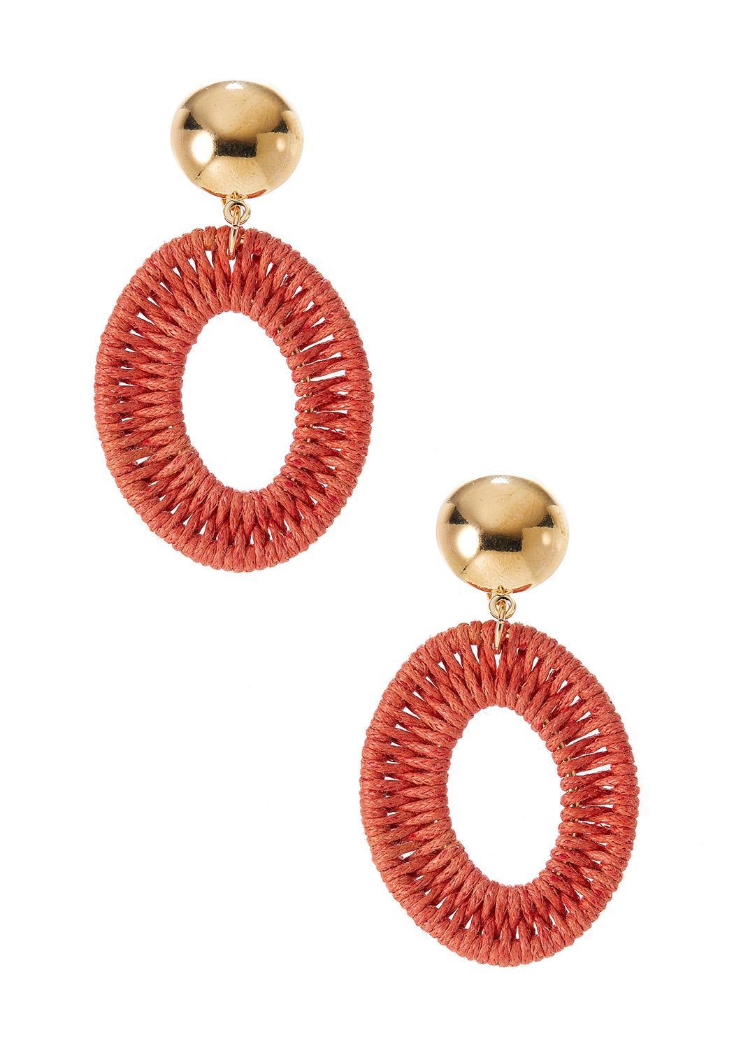 Oval Thread Wrap Clip-On Earrings