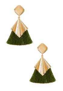 Diamond Metal Tassel Earrings