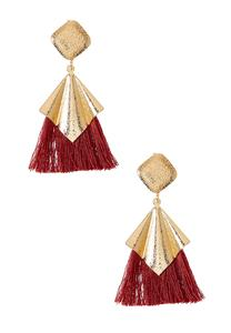 Diamond Metal Tassel Earrings