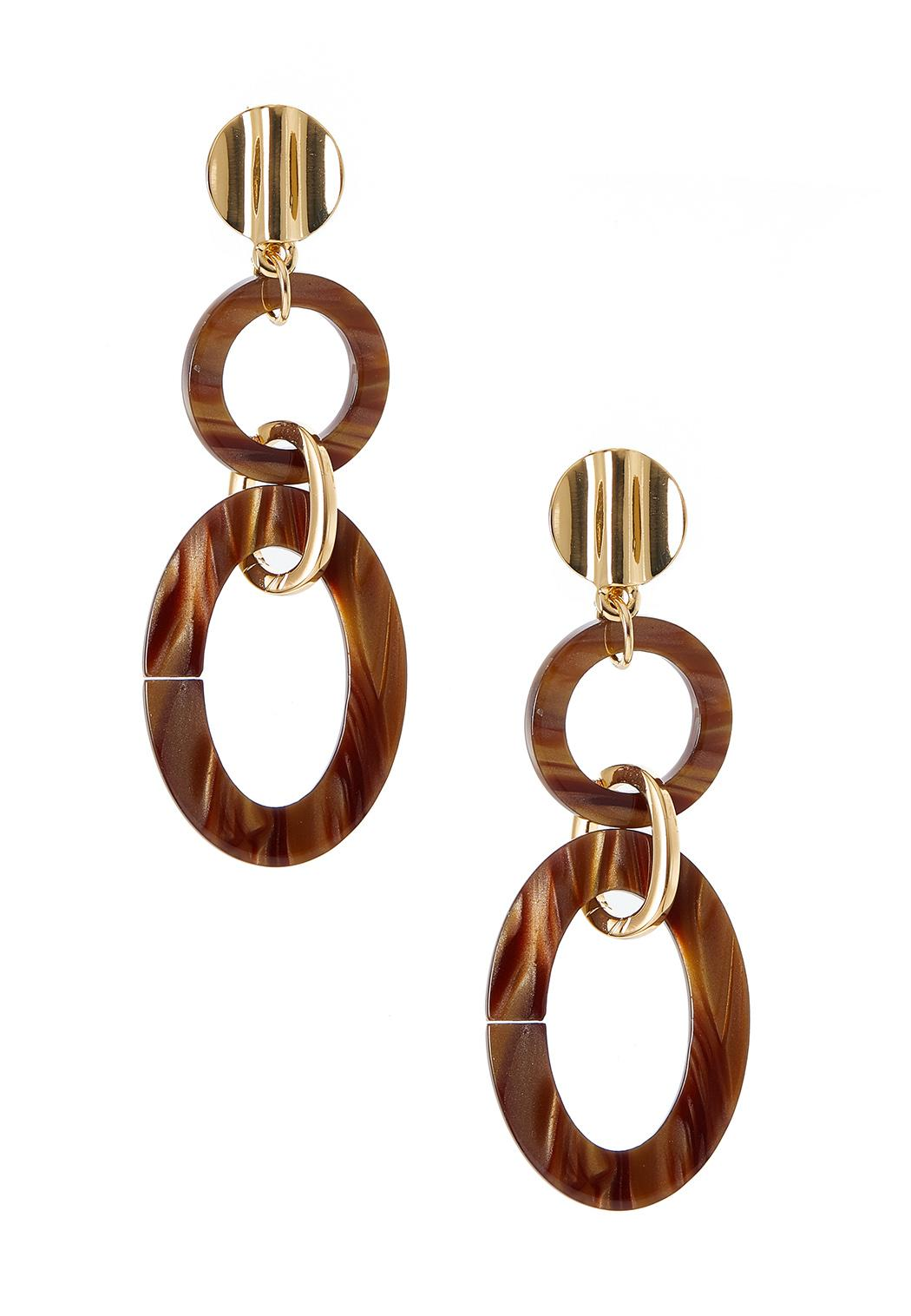 Lucite Link Clip-On Earrings