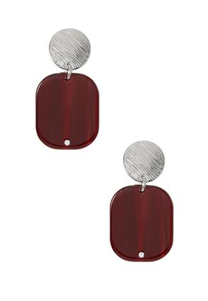 Rectangle Lucite Clip- On Earrings