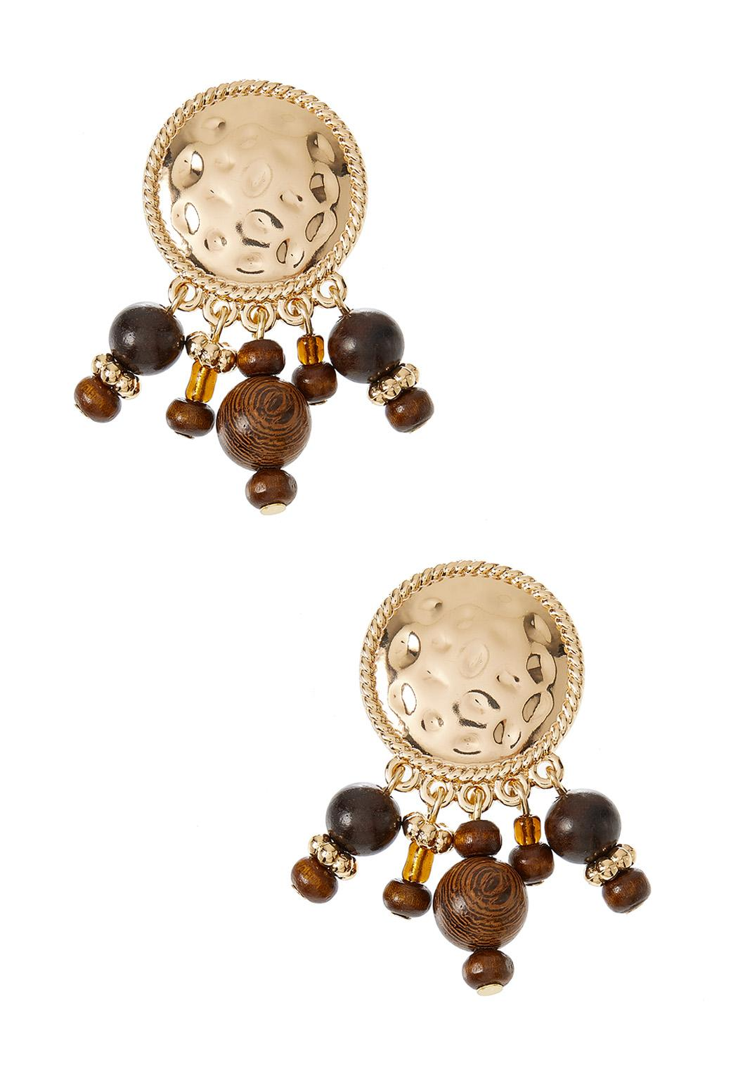 Shaky Wooden Bead Earrings