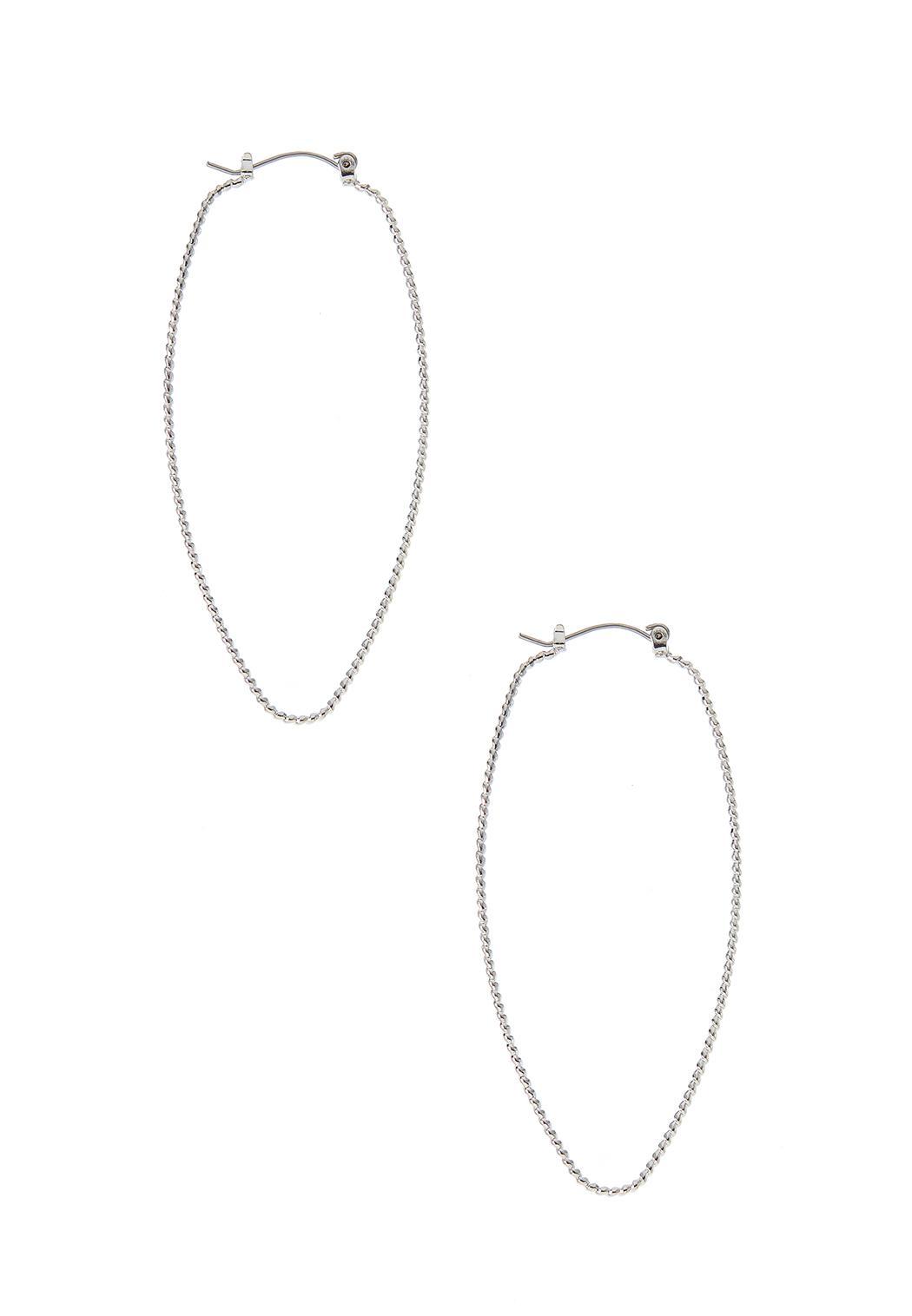 Thin Diamond Cut Hoop Earrings
