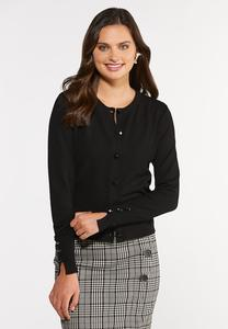 Classic Black Cardigan Sweater