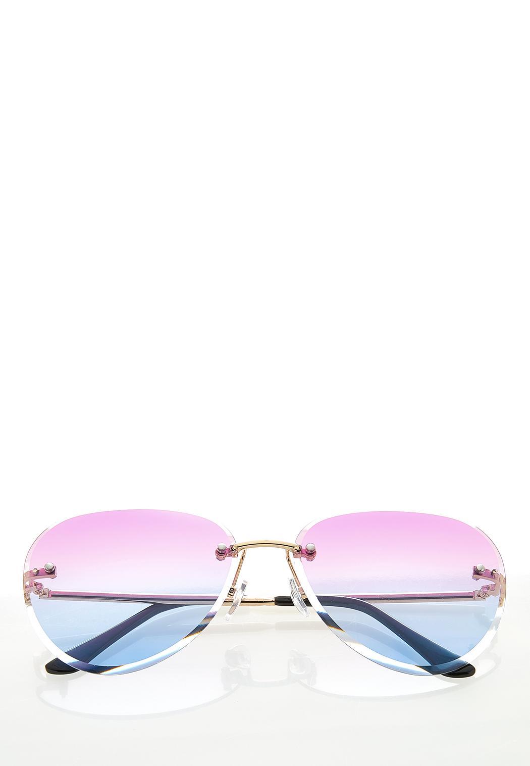 Sunset Skies Beveled Sunglasses