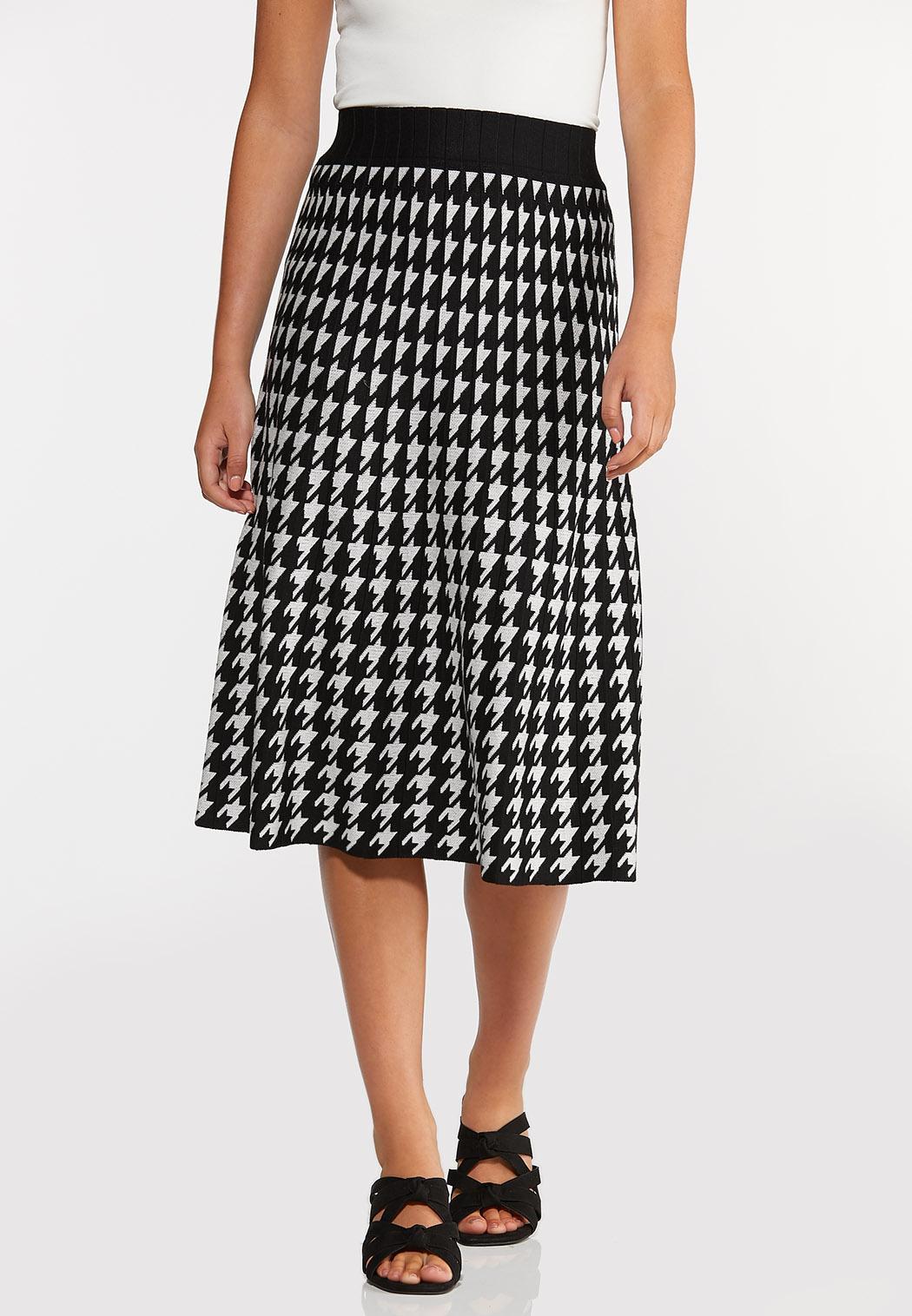 Houndstooth Sweater Skirt