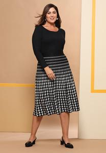 Houndstooth Sweater Skirt