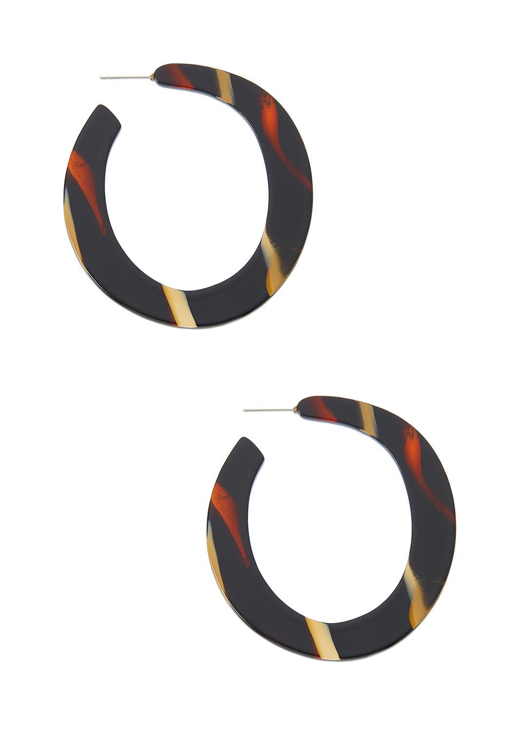 Resin Flat Hoop Earrings