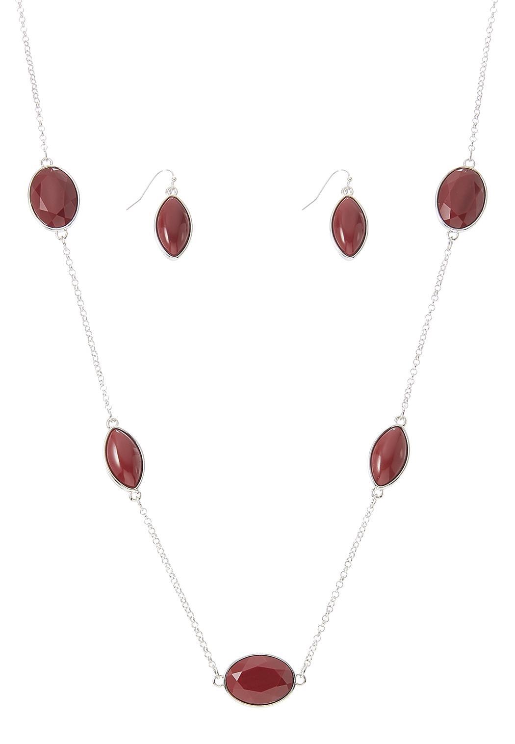 Acrylic Bead Necklace Earring Set