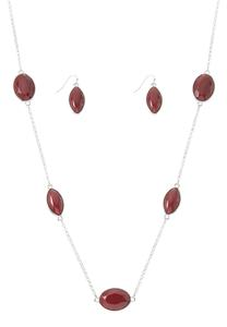 Acrylic Bead Necklace Earring Set