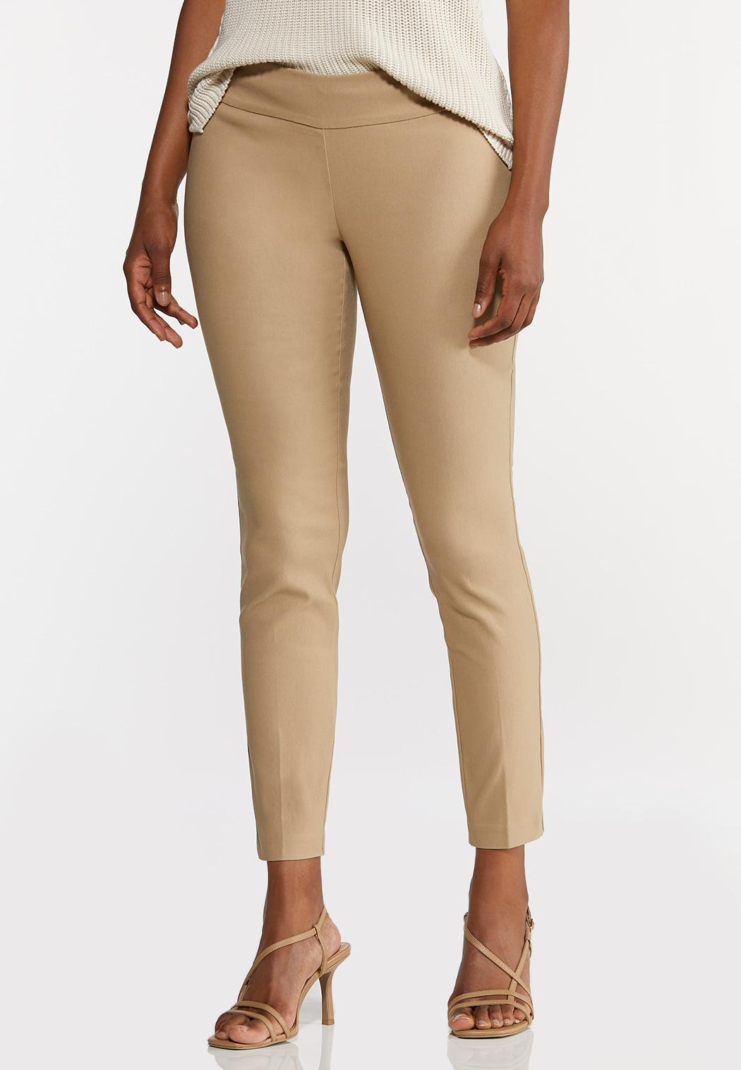 Petite Soft Woven Slim Pants