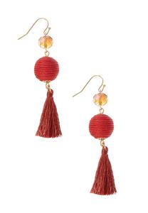 Bead And Ball Earrings