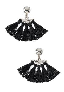 Mini Fanned Tassel Earrings