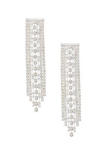 Cupchain Rhinestone Dangle Earrings