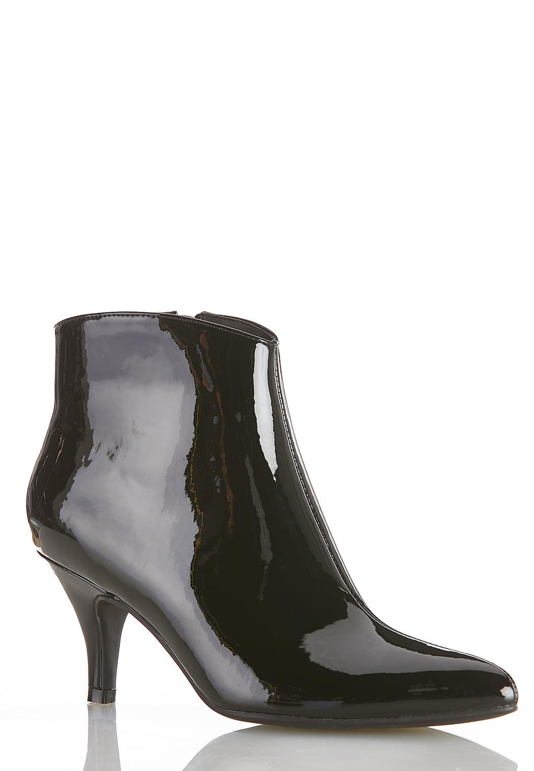 Patent Leather Booties Booties Cato