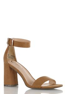 Square Toe Heeled Sandals