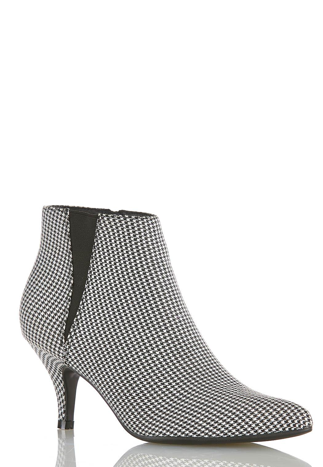 Width Width Houndstooth Stretch Gore Booties