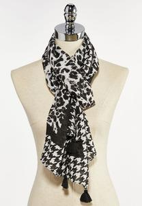 Animal Houndstooth Scarf