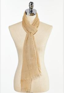 Sequin Check Scarf