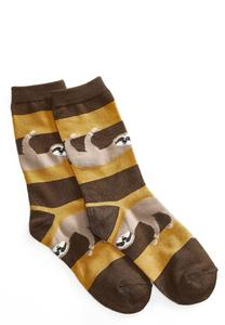 Striped Sloth Socks