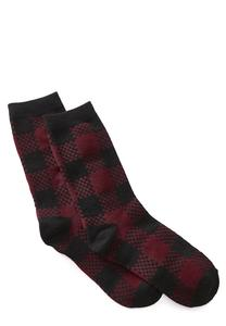 Buffalo Plaid Crew Socks