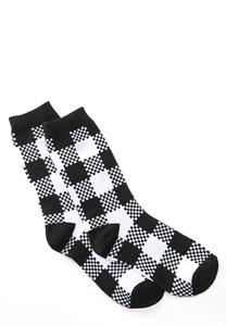 Buffalo Plaid Crew Socks