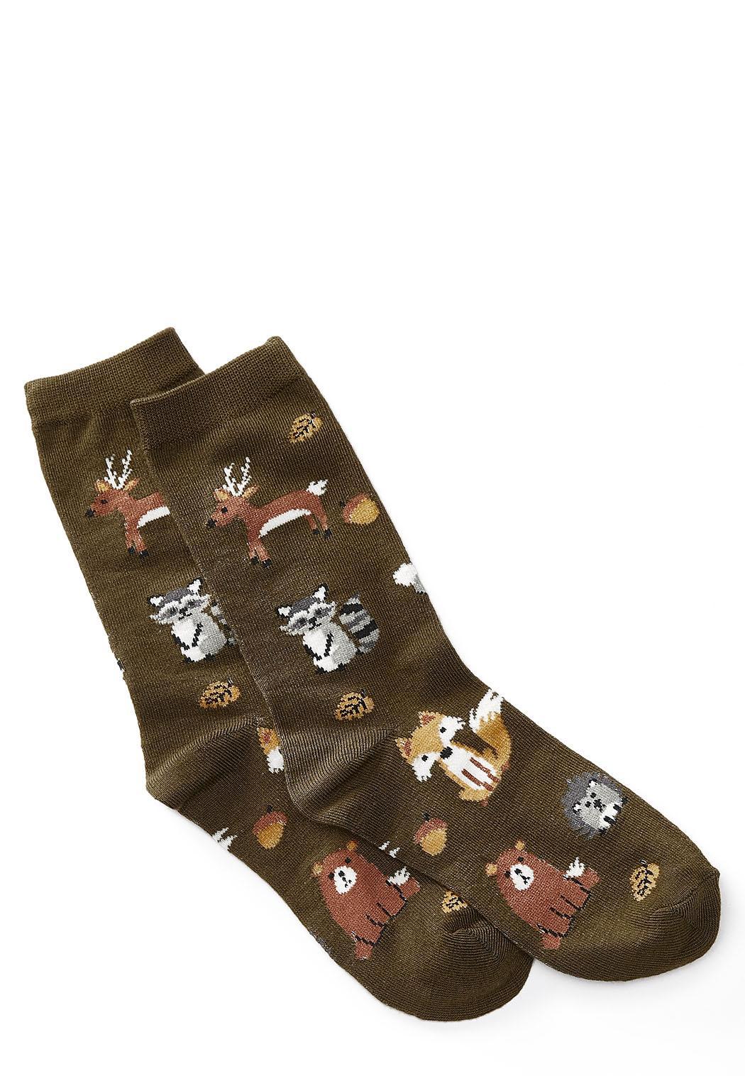Forest Critter Crew Socks