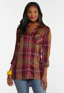 Mango Plaid Shirt