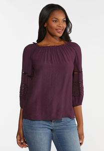 Crochet Balloon Sleeve Poet Top