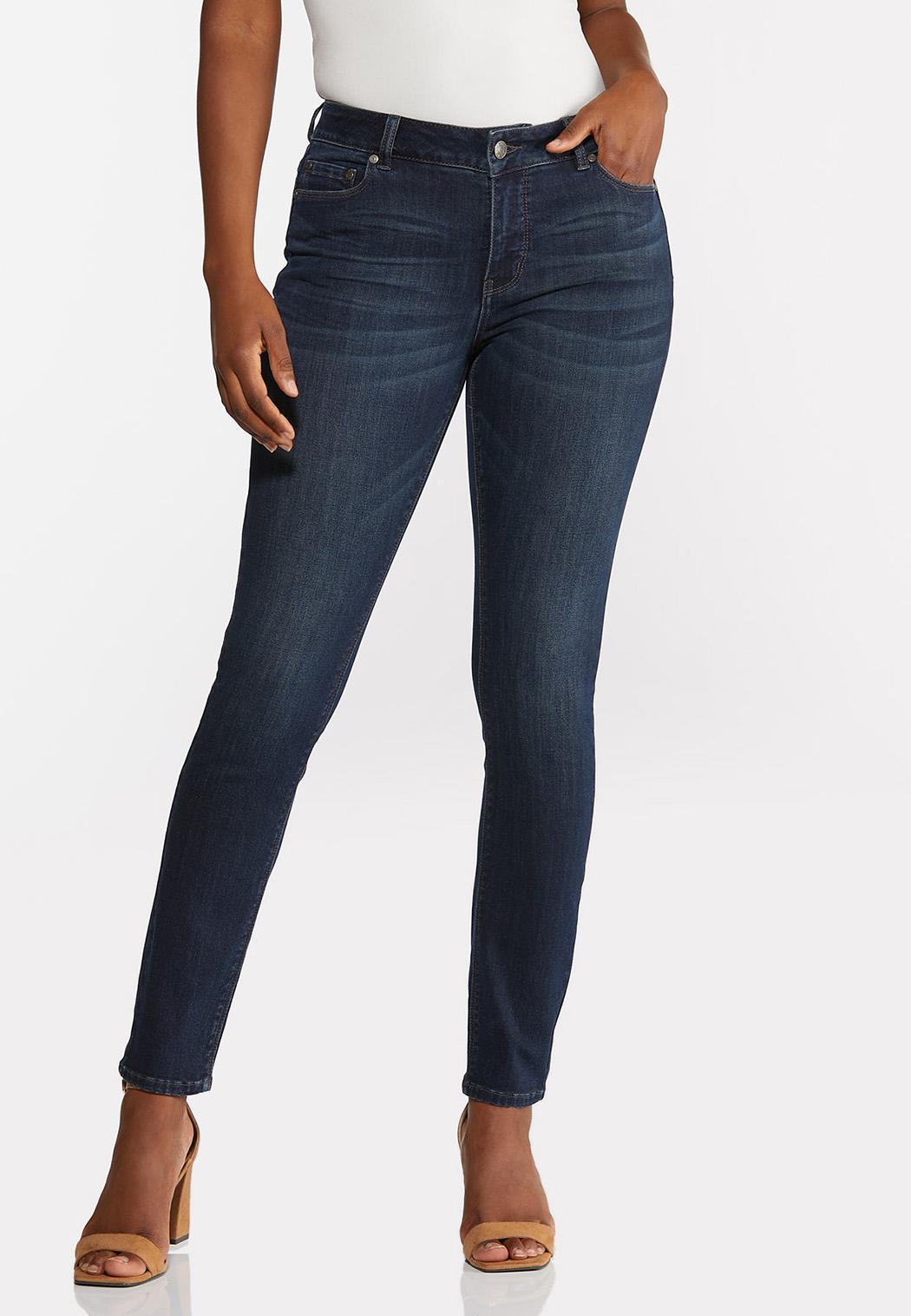 Petite Dark Wash Skinny Jeans