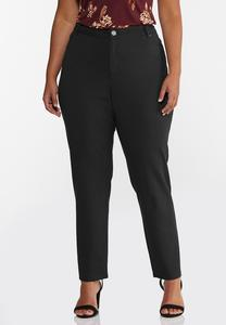 Plus Size Skinny 5-Pocket Ponte Pants