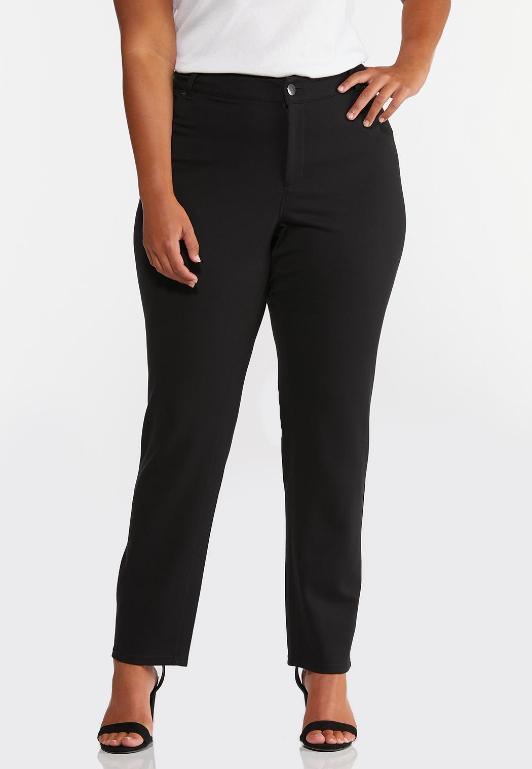 Plus Petite Colored Ponte Pants