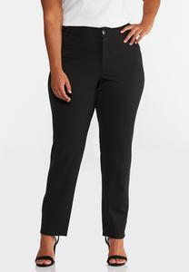 Plus Petite Colored Ponte Pants