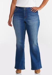 Plus Size Flare High-Rise Jeans