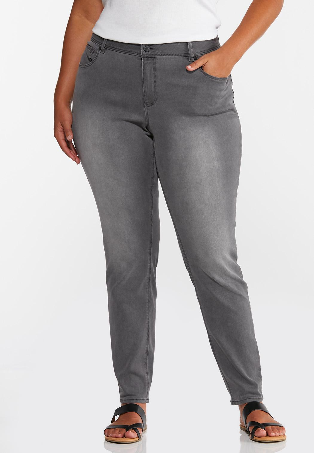 Plus Size Gray Jeggings
