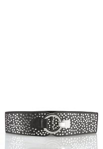 Plus Size Studded Stretch Belt