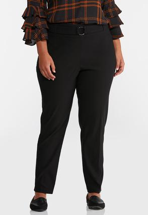 Plus Size Belted Bengaline Pants