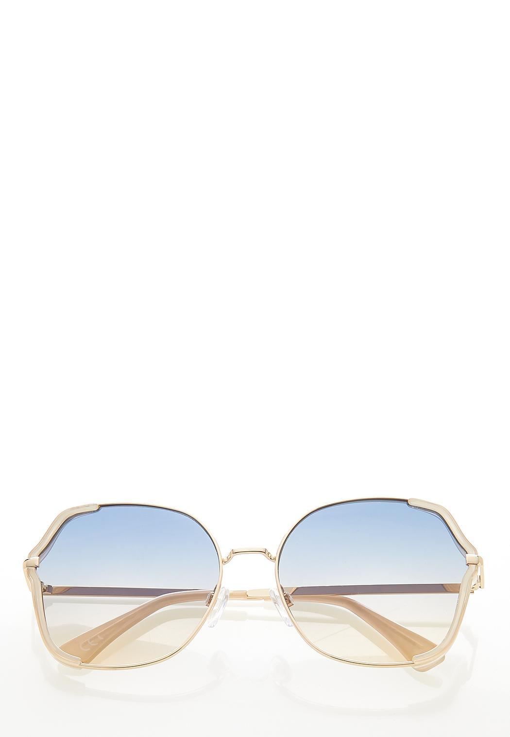 Blue Trim Sunglasses