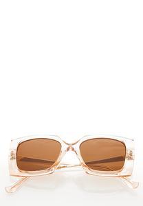 Lucite Geo Square Sunglasses