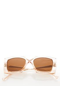 Lucite Geo Square Sunglasses