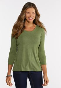 Plus Size Solid Layering Tee