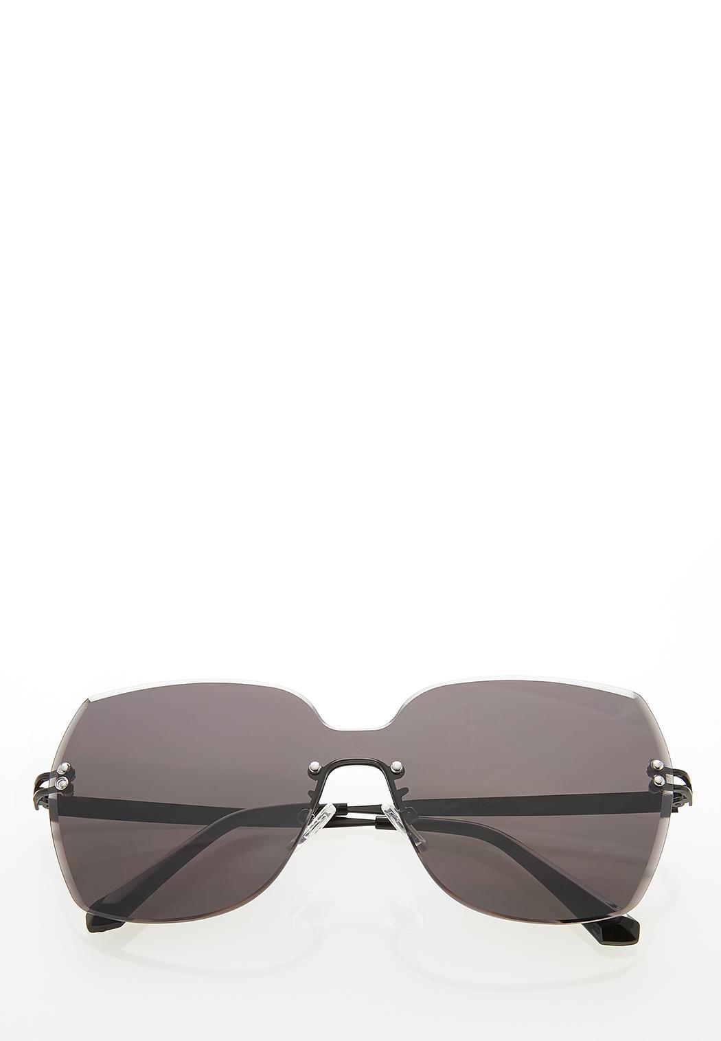 Beveled Rimless Sunglasses