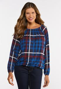Convertible Plaid Top