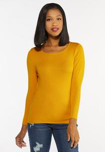 Solid Pullover Sweater