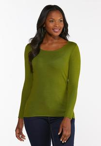 Plus Size Solid Pullover Sweater