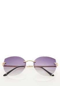 Rimless Chain Link Sunglasses